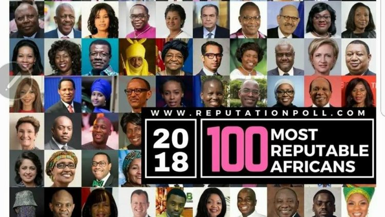 Prof. Oniang'o on the Inaugural Most Reputable Africans List 2018